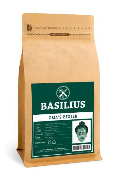 Basilius OMAS BESTER Ganze Kaffeebohnen | Brasilien & Kolumbien | 100% Arabica