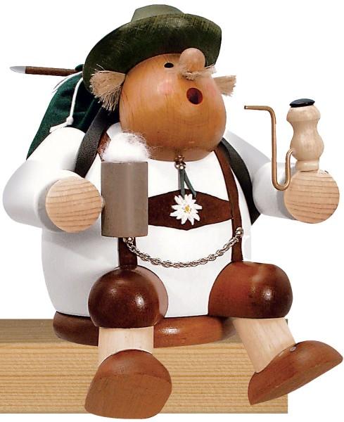 KWO Räuchermann Kantenhocker WANDERER / 17 cm