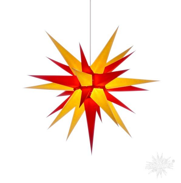 Herrnhuter Sterne ADVENTSSTERN Papier I7 ca. Ø70 cm | gelb-rot
