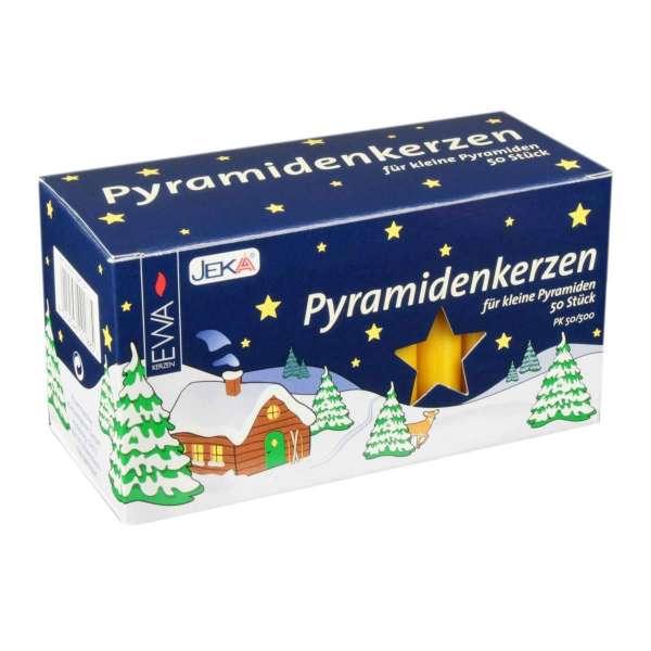 EWA Kerzen PYRAMIDENKERZEN natur für Advents- & Weihnachtspyramiden / 50 Stück