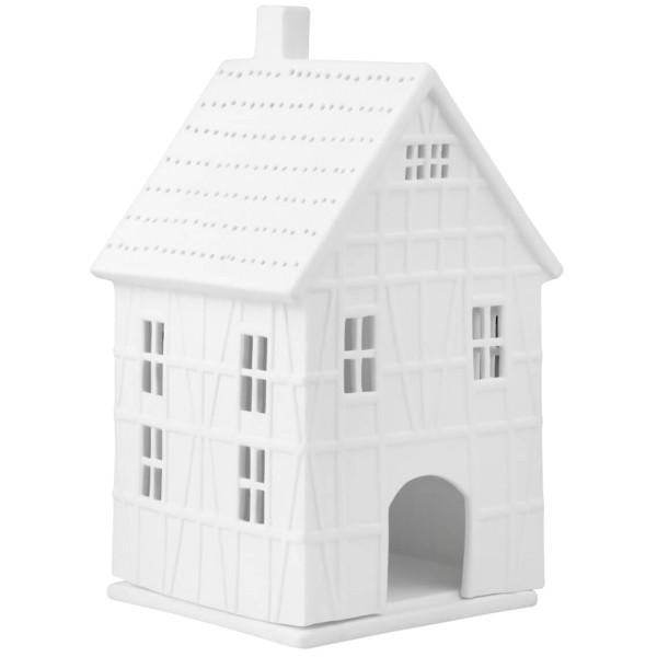 räder Porzellan LICHTHAUS Fachwerkhaus groß / 9,5cm x 10cm x 19cm