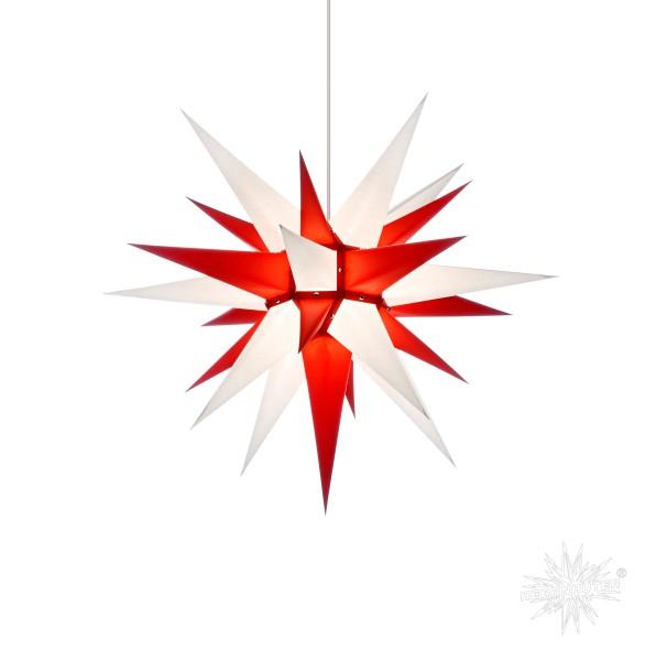 Herrnhuter Sterne ADVENTSSTERN Papier I6 ca. Ø60 cm | weiß-rot