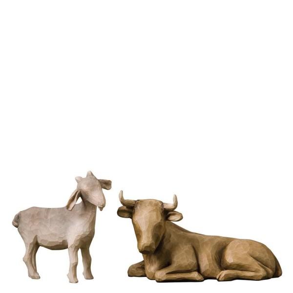 Willow Tree Figur Ochse und Ziege / Ox & Goat