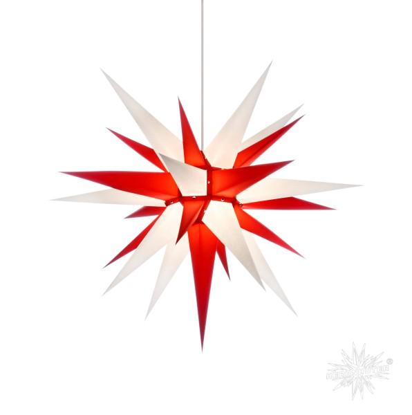 Herrnhuter Sterne ADVENTSSTERN Papier I7 ca. Ø70 cm | weiß-rot