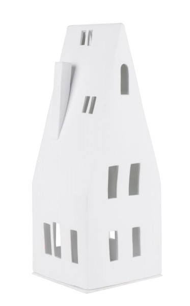 räder Porzellan GROßES LICHTHAUS Spitzdach / 12cm x 11cm x 30,5cm