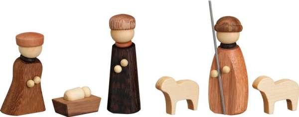 Seiffener Volkskunst Miniaturen CHRISTI GEBURT 6-teilig / 7 cm