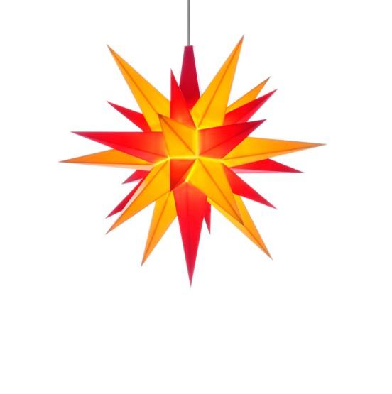 Herrnhuter Sterne LED ADVENTSSTERN Kunststoff Ø13 cm | gelb-rot