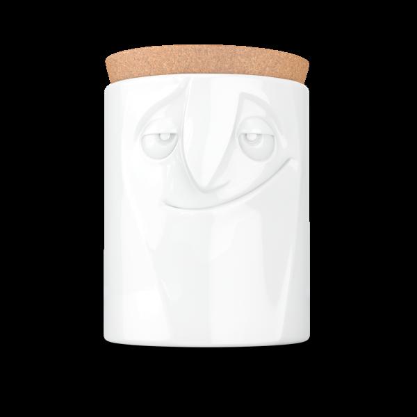 Fiftyeight Vorratsdose CHARMANT mit Korkdeckel | 1700 ml | weiß