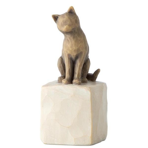 Willow Tree Figur Liebe meine Katze (dunkel) / Love My Cat (Dark)