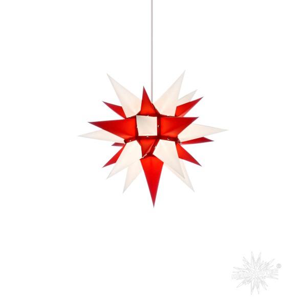 Herrnhuter Sterne ADVENTSSTERN Papier I4 ca. Ø40 cm   weiß-rot