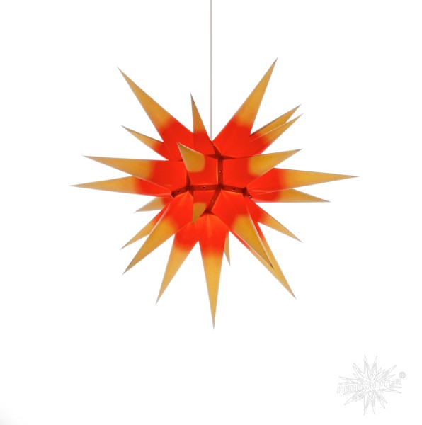 Herrnhuter Sterne ADVENTSSTERN Papier I6 ca. Ø60 cm | gelb mit rotem Kern