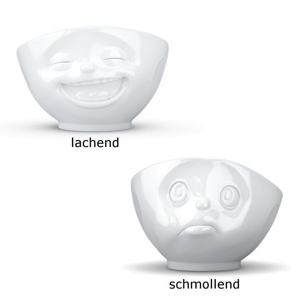 Fiftyeight 2er Schalen Set SCHMOLLEND & Lachend ca. 500ml / weiß